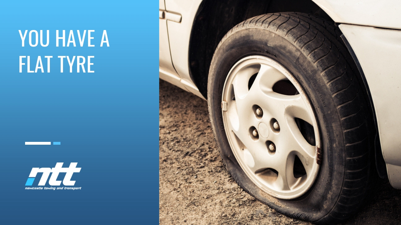 flat tyre towing newcastle